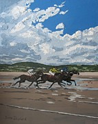 Connemara Paintings - Omey Horse Races Cladaghduff Connemara Ireland by Diana Shephard