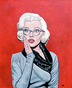 Lady In Red Prints - Omg Print by Tom Roderick