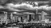 Charlotte Skyline Framed Prints - Ominous Charlotte Sky Framed Print by Chris Austin