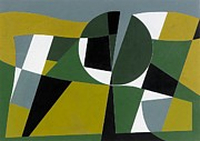 Green Movement Paintings - Ominous Landscape by George Dannatt