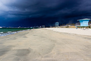 Ominous Sky Over Long Beach Print by Heidi Smith