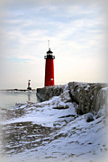 Great Lakes Digital Art Prints - On A Cold Winters Morning Print by Kay Novy