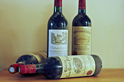 Red Wine Bottle Prints - On a French Shelf Print by Georgia Fowler