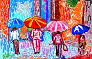 On A Rainy Day Print by Anand Swaroop Manchiraju