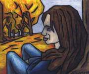 On A Warm Autumn Day Print by Kamil Swiatek