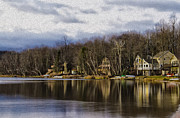 Poconos Art - On Arrowhead Lake by Bill Cannon