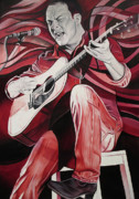 Red Guitar Framed Prints - On bended Knees Framed Print by Joshua Morton