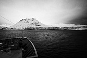 Approaching Prints - on board ship approaching Honningsvag finnmark norway europe Print by Joe Fox