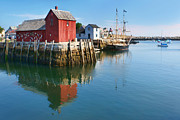 Maine Icons Prints - On Bradley Wharf Print by Nikolyn McDonald