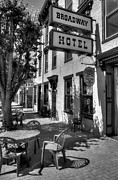 Indiana Photography Prints - On Broadway BW Print by Mel Steinhauer