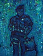 Law Enforcement Paintings - On Command I I by Craig Green