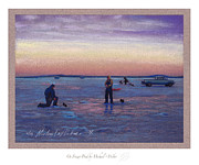 Pickup Pastels - On Frozen Pond by Michael  Weber