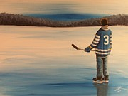 Ron  Genest - On Frozen Pond -  Winter...