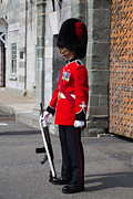 Historic Site Photo Metal Prints - On Guard Quebec City Metal Print by Edward Fielding