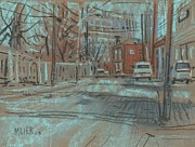 Street Drawings Originals - On Marietta Street by Donald Maier