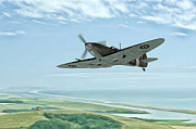 Historic Aviation Prints - On Patrol Print by John Edwards
