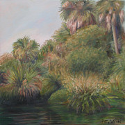 Fauna Painting Metal Prints - On Pellicer Creek Metal Print by Patty Weeks
