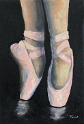 Ballet Dancer Posters - On Point IV Poster by Torrie Smiley