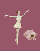 Ballet Prints - On Pointe Print by Delores Knowles