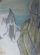 Figures Pastels - On rock by Bill Sproul