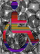 Unique Art Prints - On Rolling Chair Print by Laura Pierre-Louis