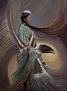 Fancy Dancer Prints - On Sacred Ground Series I Print by Ricardo Chavez-Mendez