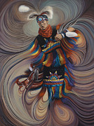 Native Painting Originals - On Sacred Ground Series II by Ricardo Chavez-Mendez