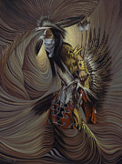 Native American Painting Metal Prints - On Sacred Ground Series IIl Metal Print by Ricardo Chavez-Mendez