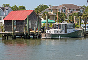 Red Roof Prints - On Shem Creek Print by Suzanne Gaff