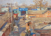 Beijing Paintings - On the backyards of Beijing by Victoria Kharchenko