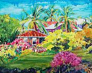 Coconut Trees Paintings - On The Big Island by Terry Holliday