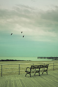 York Beach Framed Prints - On The Boardwalk Framed Print by Margie Hurwich