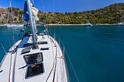 Yacht Photo Metal Prints - On the Bow Metal Print by Adam Romanowicz