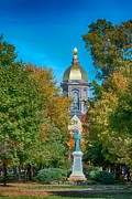 Indiana Autumn Framed Prints - On the Campus of the University of Notre Dame Framed Print by Carol M Highsmith