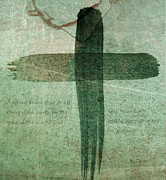 Jesus Writing Posters - On the cross - Romans 8 Poster by Andrea Anderegg