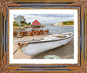 Calm Waters Digital Art Framed Prints - On the Dock Framed Print by Betsy A Cutler East Coast Barrier Islands