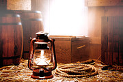 Kerosene Lamp Photos - On the Dock by Olivier Le Queinec