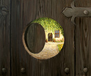 Antique Gate Posters - On The Doorstep Poster by Kiril Stanchev