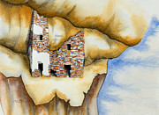 Mesa Verde Prints - On The Edge Print by Jerry McElroy