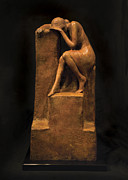 Woman Sculptures Sculpture Prints - On the Edge Print by Mary Buckman
