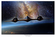 Sr-71 Posters - On The Edge Of Night Poster by Mark Karvon