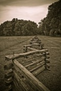 Wood Planks Metal Prints - On the Fence Metal Print by Charles Dobbs