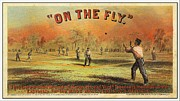 Antique Baseball Bat Framed Prints - On the Fly 1867 Framed Print by Audreen Gieger-Hawkins