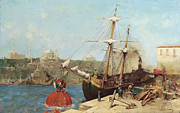 Famous Artists - On the Golden Horn by Alberto Pasini