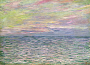 Signed Painting Prints - On the High Seas Print by Claude Monet