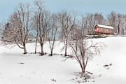 Barn Art Photos - On The Hill by Bill  Wakeley