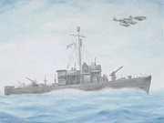 Cruiser Painting Metal Prints - On The Hunt Metal Print by Cathy Cleveland