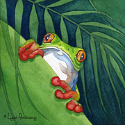 Frog Paintings - On The Look Out by Lyse Anthony