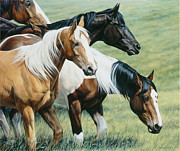 Saddle Paintings - On The Move by Michelle Grant