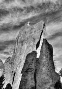 Needles Highway Prints - On The Needles Highway 4 BW Print by Mel Steinhauer